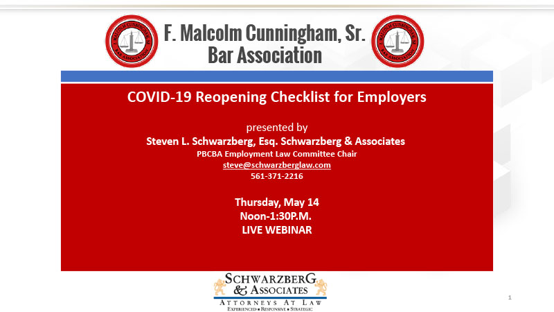 COVID-19 Reopening Checklist for Employers